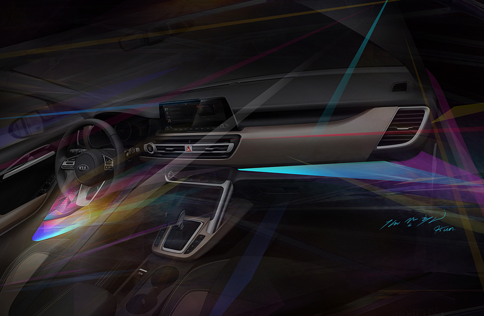 Kia Motors демонструє інтер'єр нового компактного кросовера